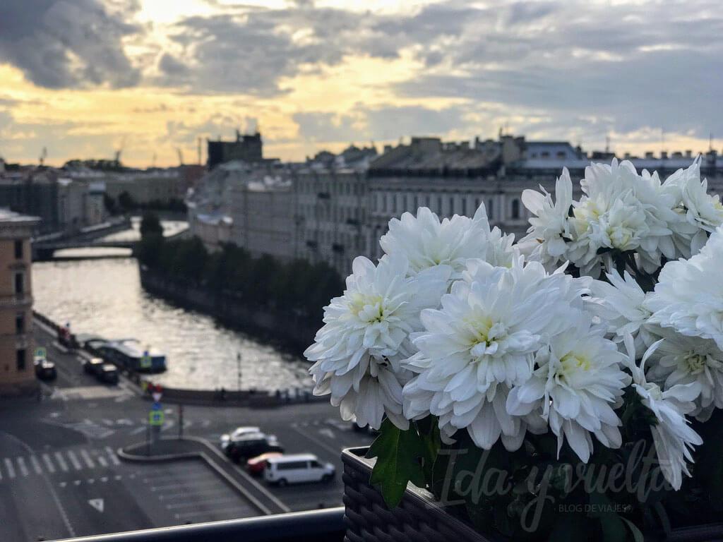 Lotte Hotel San Petersburgo vistas desde terraza