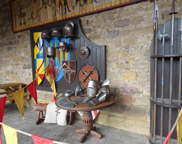 knight area at courtyard at alnwick castle