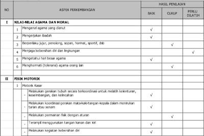 Download Aplikasi Raport PAUD TP. 2016/2017