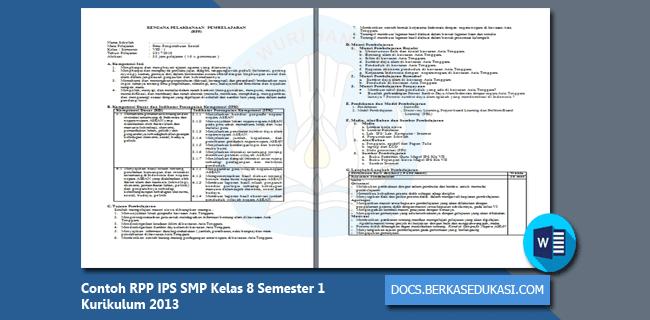 Contoh RPP IPS SMP Kelas 8 Semester 1 Kurikulum 2013