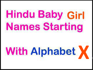 Hindu Baby Girl Names Starting With X