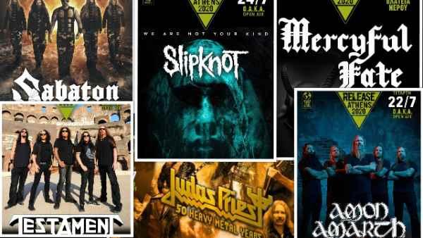 Slipknot, Mercyful Fate, Sabaton, Amon Amarth, Testament, Judas Priest κ.α. στο Release Athens 2020