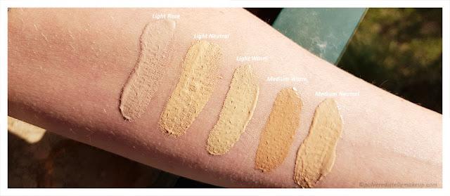 Neve Cosmetics Creamy Confort swatches