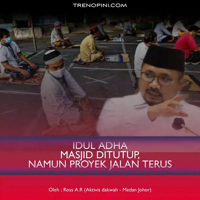 Kebijakan yang diterapkan pemerintah saat ini seperti PPKM DARURAT Jawa-Bali, sepertinya ada ketimpangan. Pasalnya, penutupan rumah ibadah seperti masjid akan menimbulkan kontroversi di kalangan masyarakat. Sebab di sisi lain pemerintah justru membiarkan dan memberikan izin untuk proyek konstruksi tetap berjalan.