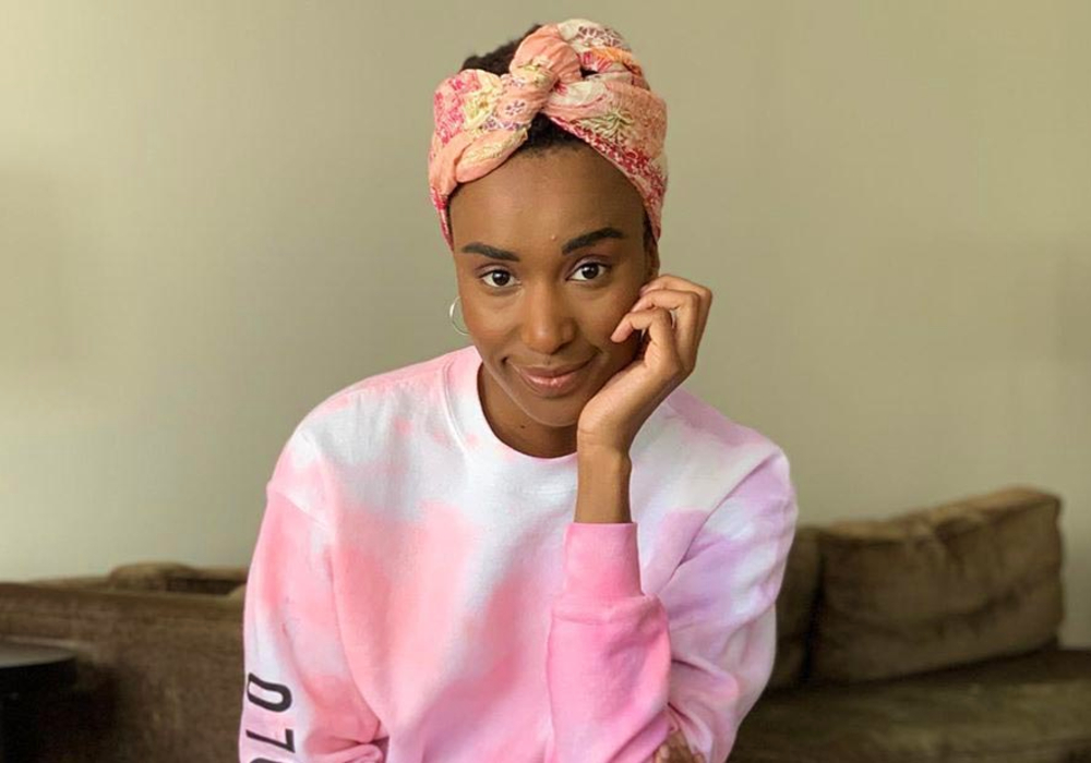 Zozibini Tunzi Wears Headwraps To Conceal Her Growing Hair!