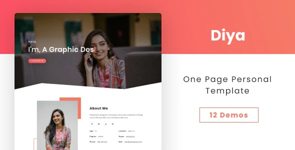 One Page Personal Template