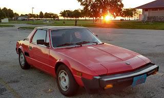 Red 1986 Fiat Bertone X 1/9