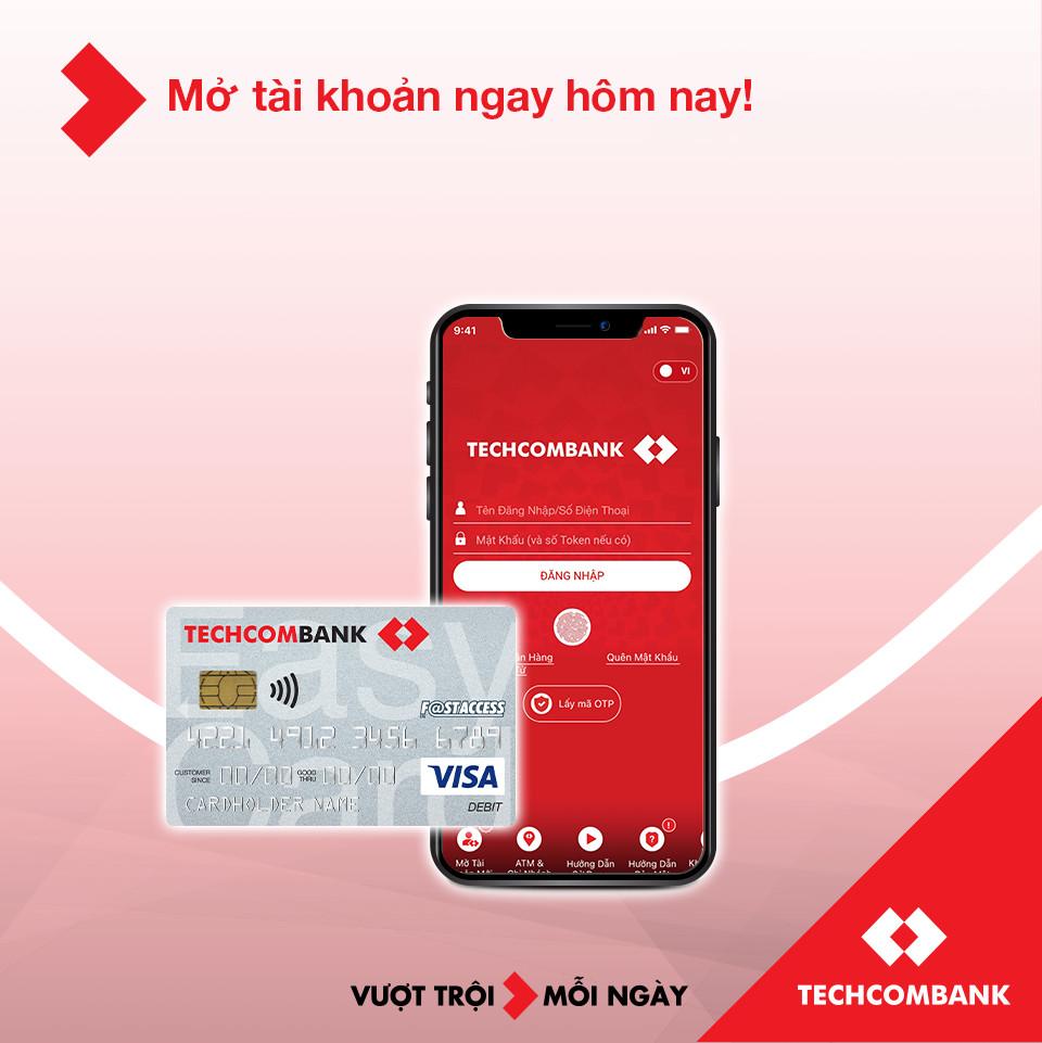 Hướng dẫn mở tài khoản ngân hàng Techcombank nhận ưu đãi 250k - Ảnh 1.