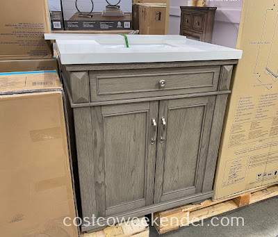 Northridge Gray Oak Vanity: great for any bathroom