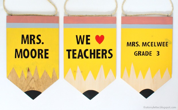 pencil banner teacher gift
