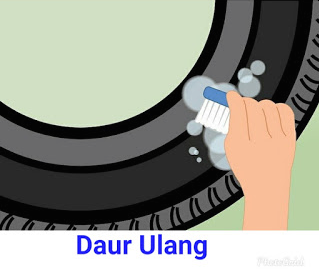 Langkah Pertama Cuci Bersih Ban Bekas