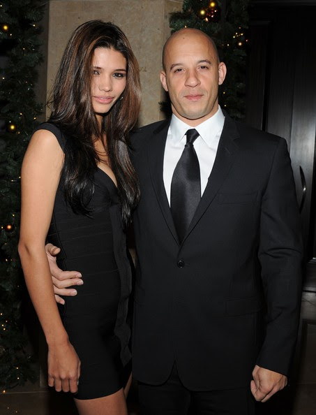 Hollywood: Vin Diesel With His Wife
