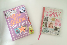 copy of sprinkle of glitter book and girl online zoella book