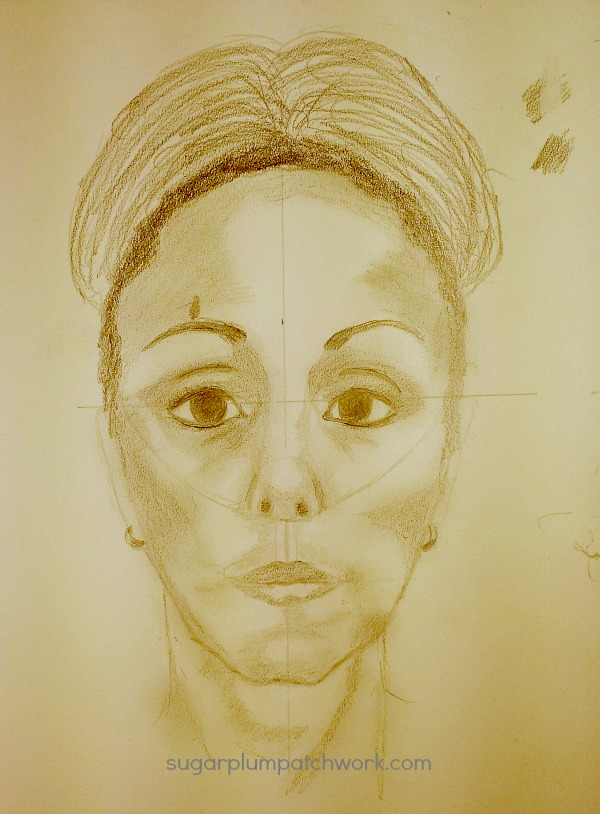 sketch of woman's face from Let's Face It 2017