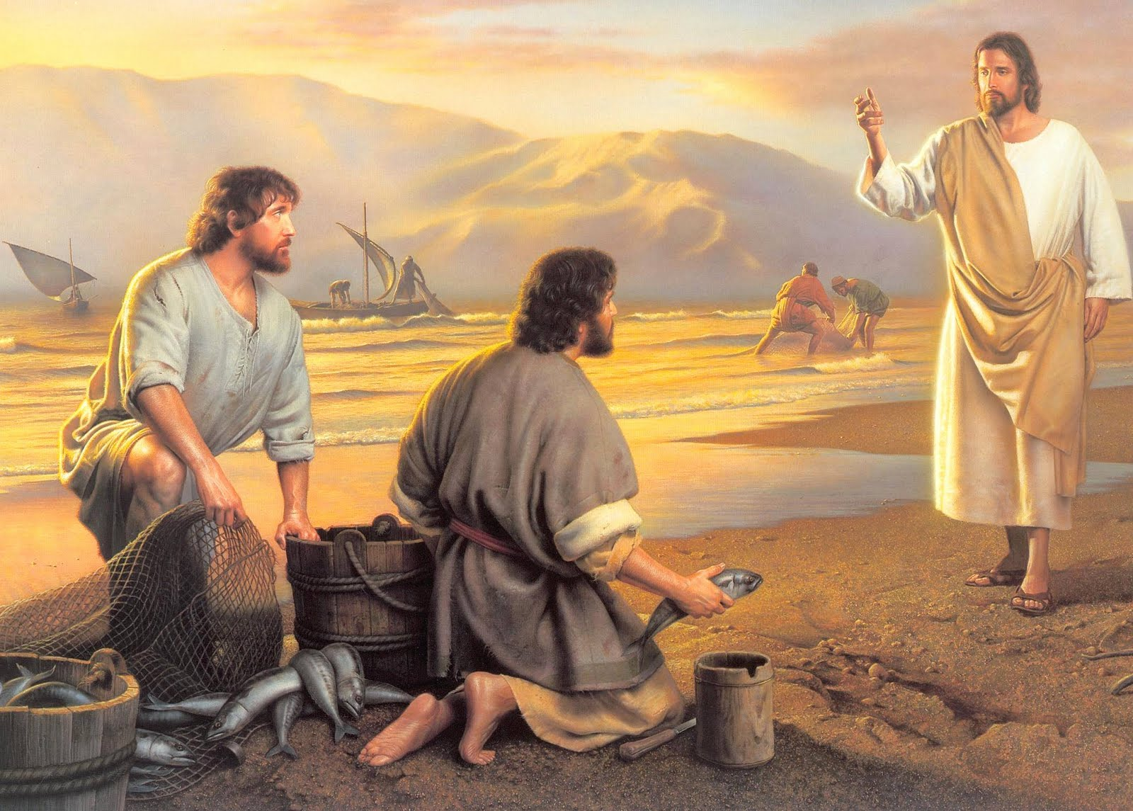 Jesus Miracle Catch of Fish - From Jesus Film Project Videos The Pictures of disciples fishing