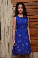 Pallavi Dora Actress in Sleeveless Blue Short dress at Prema Entha Madhuram Priyuraalu Antha Katinam teaser launch 017.jpg