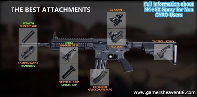 Full information and settings about M4+6X Spray    For Gyro and non gyro both    pubg mobile