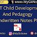 REET Child Development And Pedagogy Handwritten Notes PDF