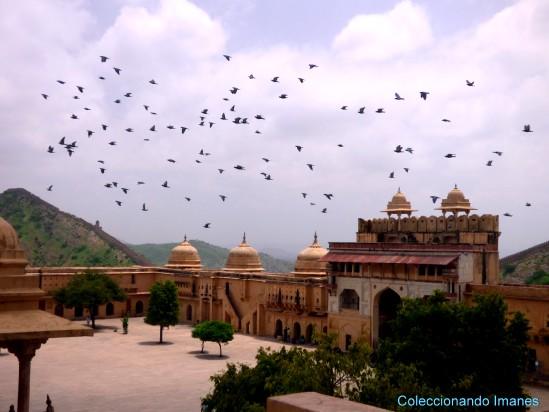 Patio del Fuerte Amber en Jaipur