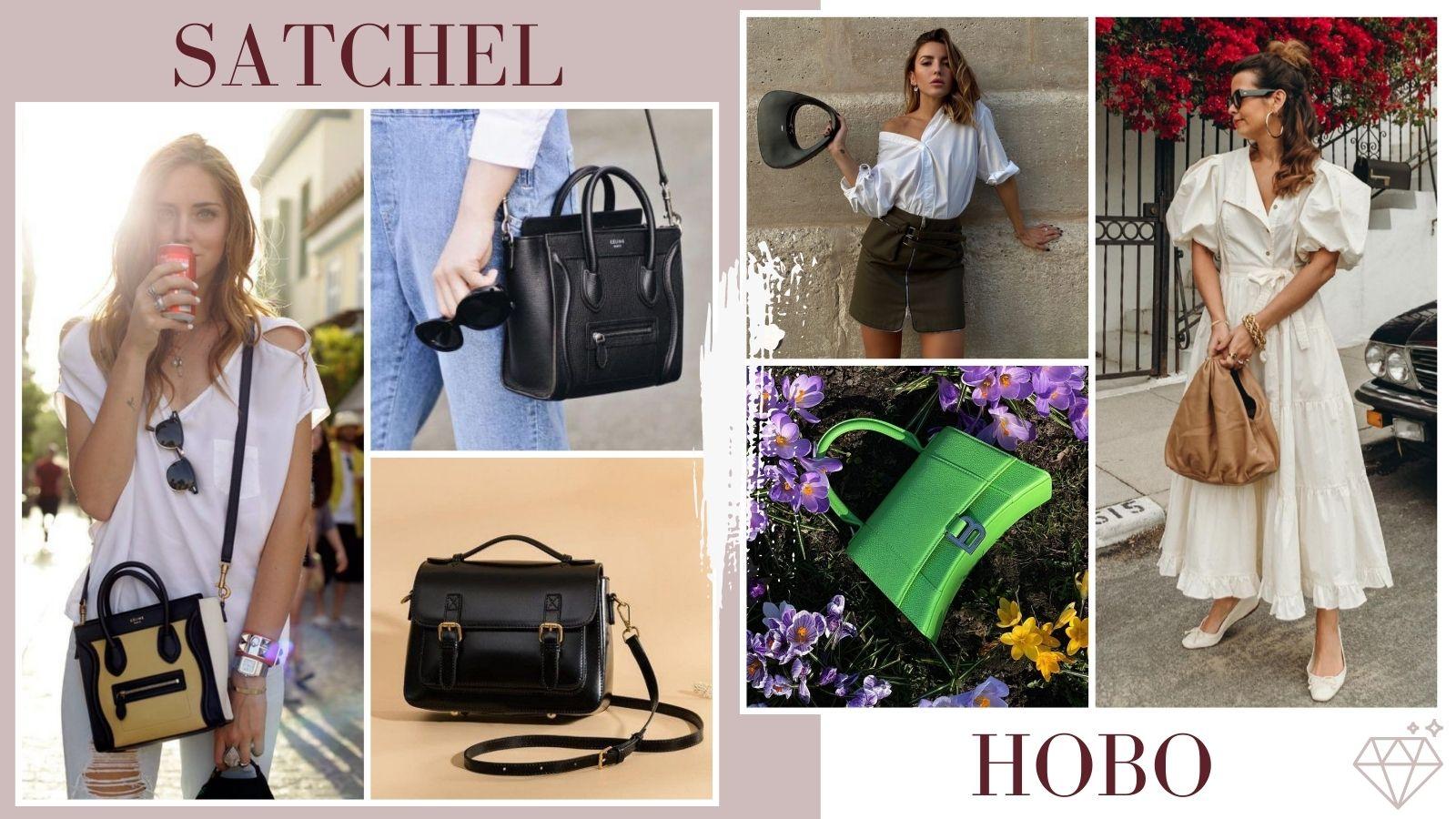 Satchel y Hobo - 6 bolsos básicos que complementan cualquier look