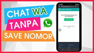 Cara Mengirim Chat Whatsapp Tanpa Menyimpan Kontak Nomor Telepon