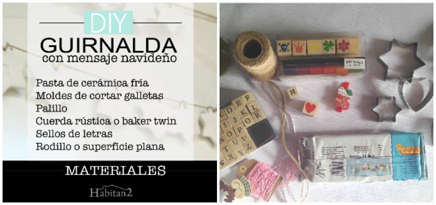 Materiales diy guirnalda navideña by Habitan2