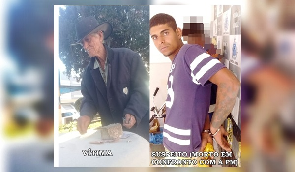 Bonito-BA: Idoso é encontrado morto por espancamento, um dos suspeito atira na polícia e termina morrendo.