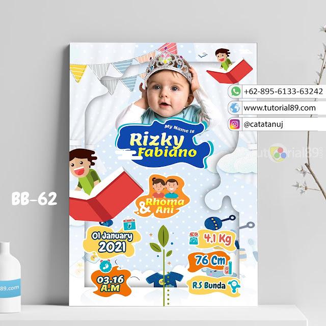 Biodata Bayi Costume Unik Kode BB62 | Buku Terbuka