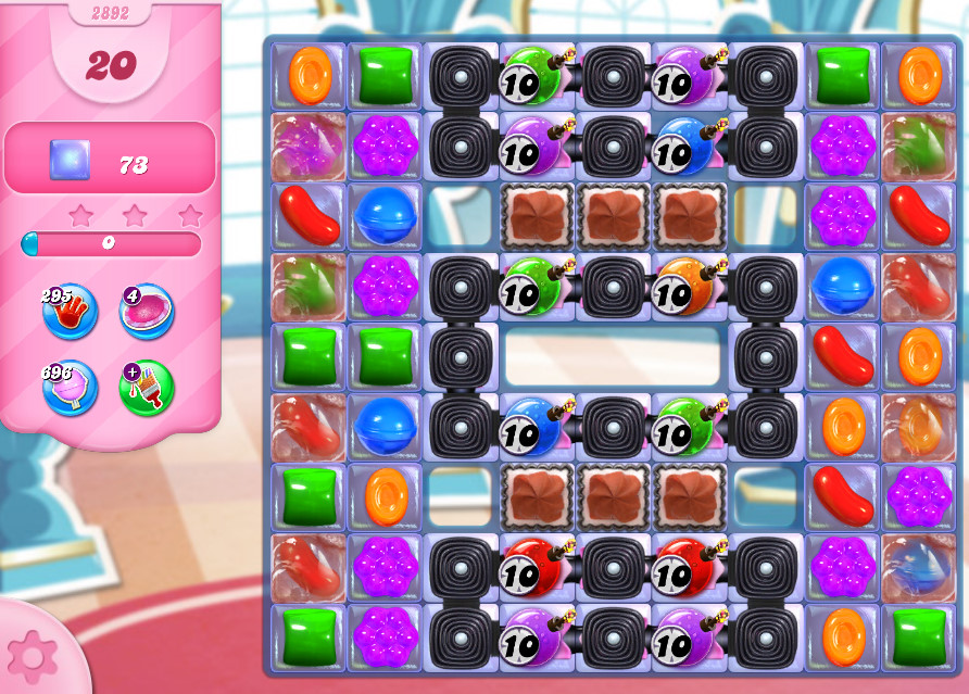 Candy Crush Saga level 2892