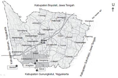 Peta Orografi : Kabupaten Klaten, Jawa Tengah