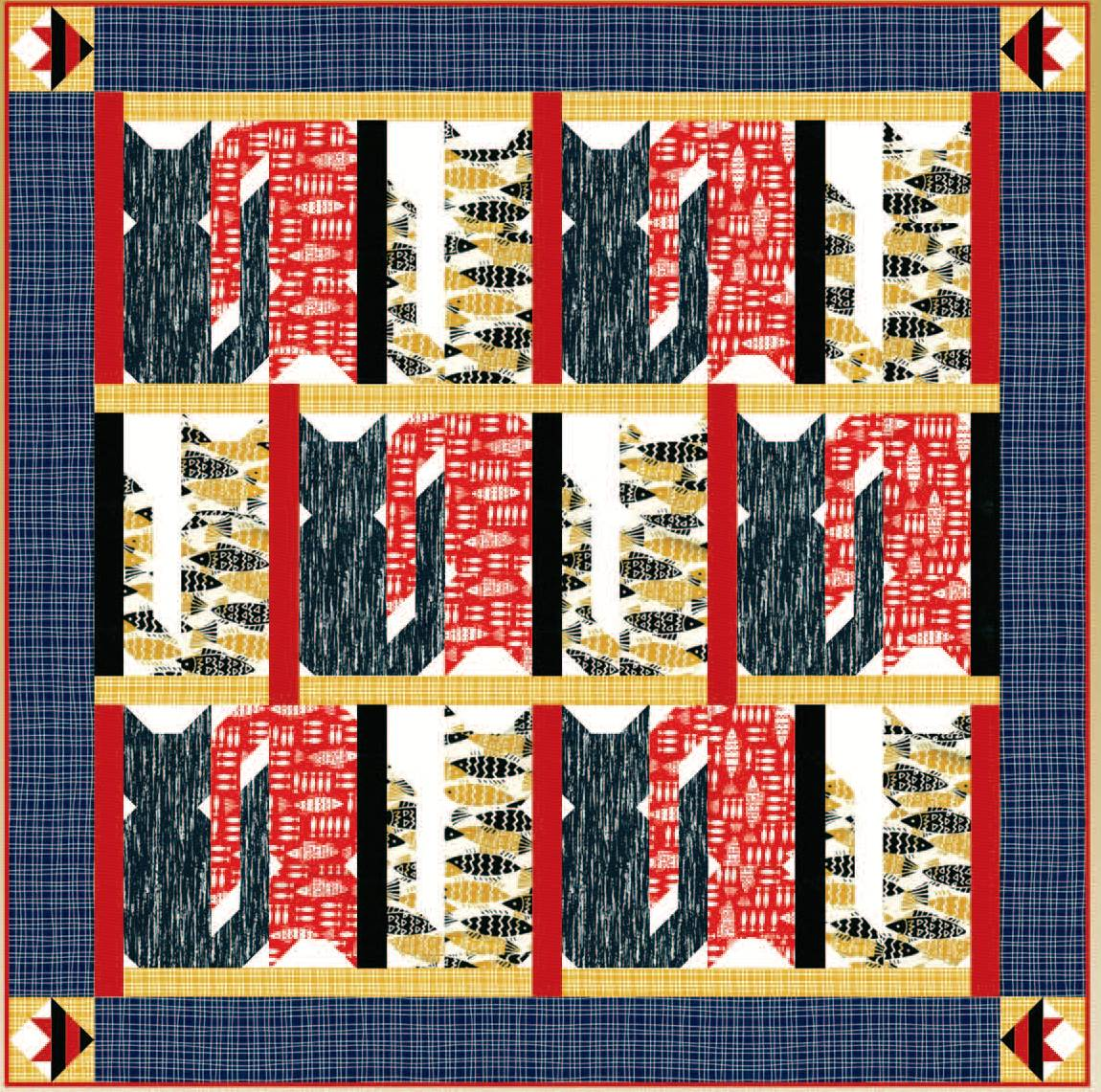 Free Pattern Day Cat And Dog Quilts Quilt Inspiration Bloglovin