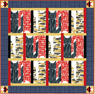Quilt Inspiration: Free pattern day: Cat and Dog quilts! : free cat quilt patterns download - Adamdwight.com