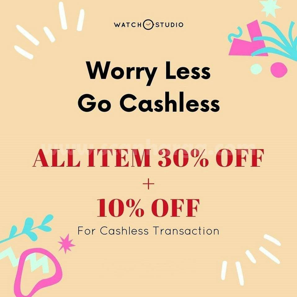 Promo Watch Studio Discount All Item 30% Off + 10% Off For Cashless Transaction