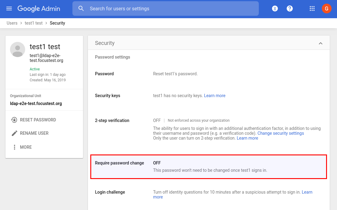 SSO + network mask domains can now force Google password