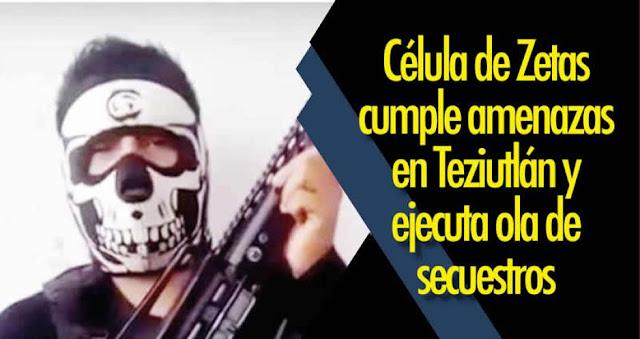 Zetas cumple amenazas contra los empresarios que no pagan 'derecho de piso' en Puebla y ejecuta ola de secuestros
