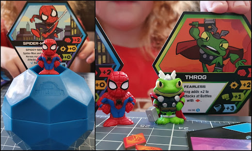 Funko Marvel Battle Balls heroes spider-man and Throg