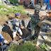 Babinsa Ranuwurung Lumajang Bantu Pembagunan Drainase