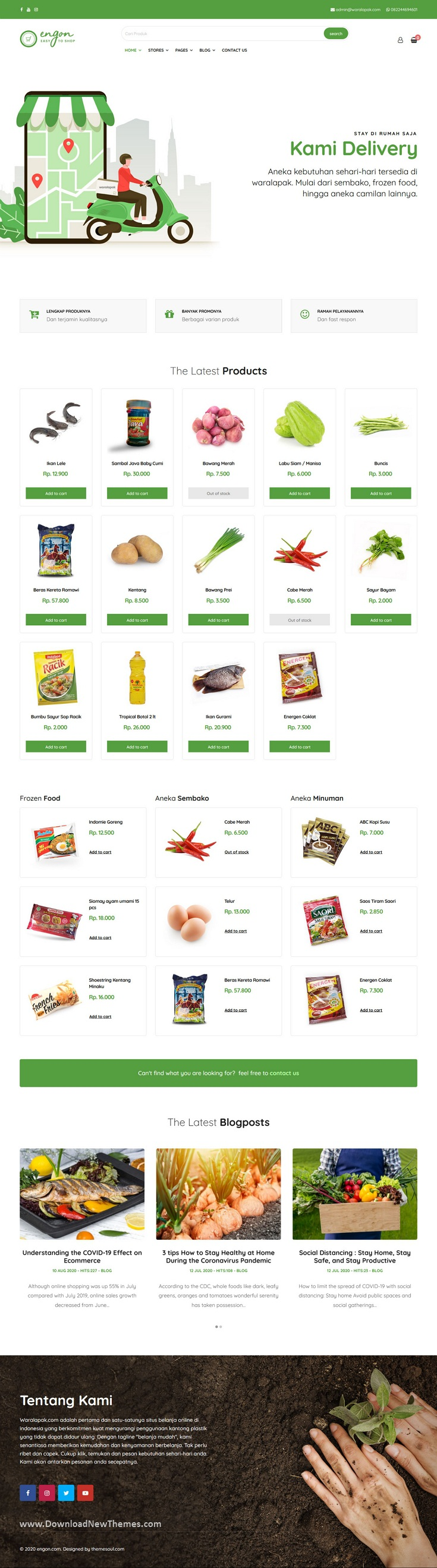 Grocery Online Store Template
