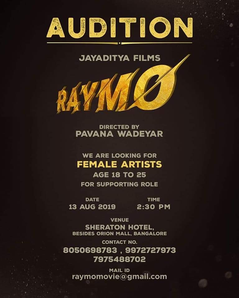 CASTING CALL FOR AN UPCOMING MOVIE 'RAYMO