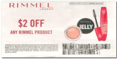 Rimmel $2.00 off insert coupon