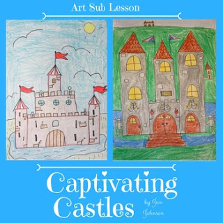 children's drawings of castles