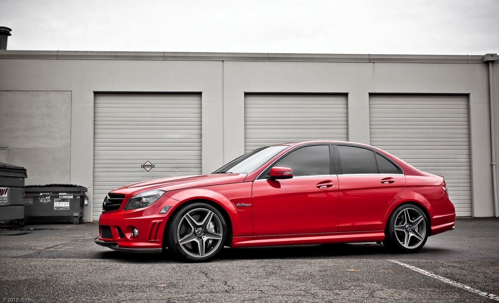 Mercedes Benz C63 Amg W204 Red Benztuning