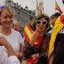 Esperanza Aguirre encabeza 'cara al sol' la manifestación de la extrema derecha en Madrid