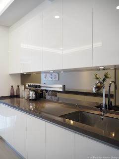High Gloss Kitchen Cabinets by Meridian Interior Design