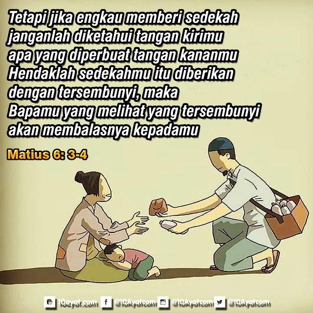 Matius 6: 3-4