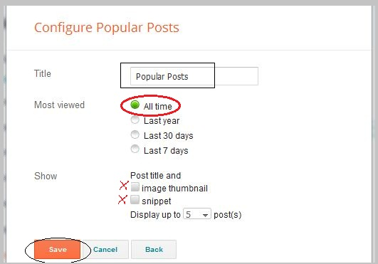 popular posts widget setting siam dan