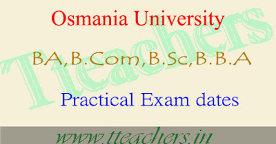 OU B.A B.Com B.Sc B.B.A supplementary 2016 practical exam dates