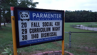 Parmenter School has their curriculum night scheduled for 9/29