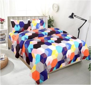 Comfy Double Bed sheet With 2 Pillow Cover