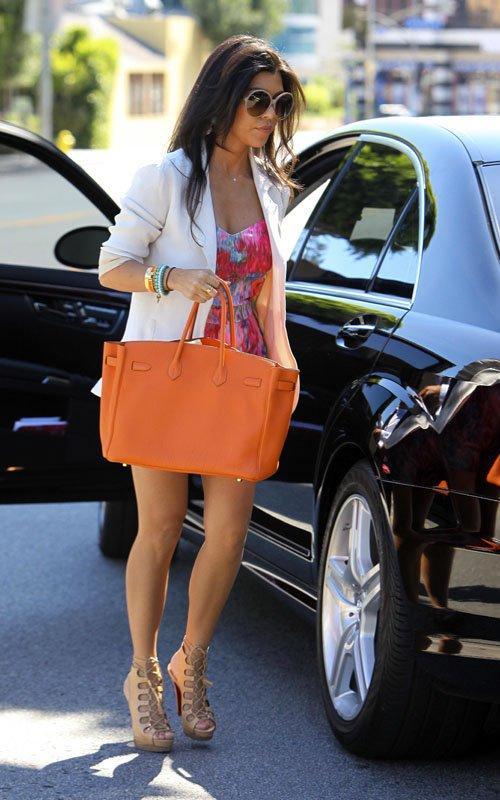 GLAMOUR Amp PEARLS Orange Herms Birkin Bag